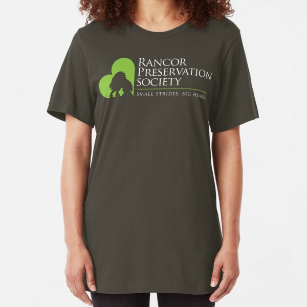 Rancor Preservation Society - Brown Slim Fit T-Shirt