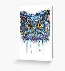 'Owl Insanity II' 2014 Greeting Card
