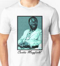 Curtis Mayfield blue Unisex T-Shirt