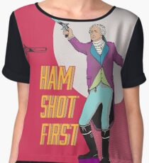 Ham Shot First Women's Chiffon Top