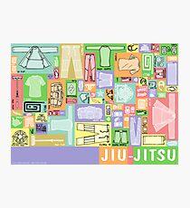 Jiu-Jitsu Gear Layout Photographic Print