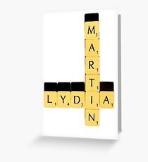 Lydia Martin | Scrabble Greeting Card