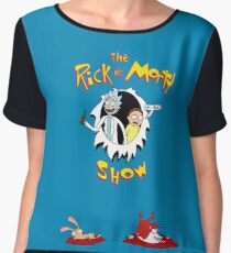 The Rick & Morty Show Featuring Ren & Stimpy Chiffon Top