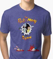 The Rick & Morty Show Featuring Ren & Stimpy Tri-blend T-Shirt