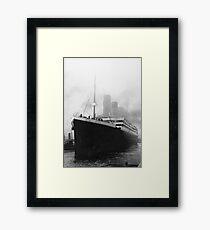 Titanic in dock in Southampton Framed Print