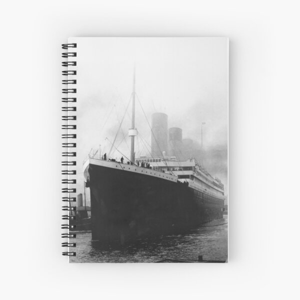Titanic in dock in Southampton Spiral Notebook