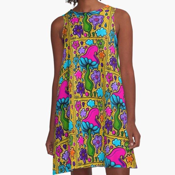 Groovy Flowers A-Line Dress
