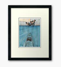 JITS - Mat is Ocean - UNLETTERED Framed Print