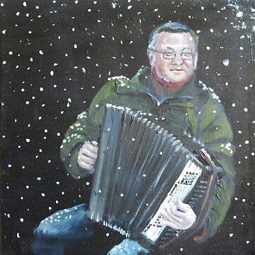 Accordion player by CamphuijsenArt