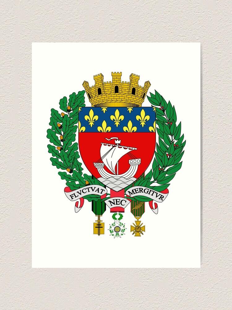 "Coat of Arms of Paris"" Art Print by abbeyz71 | Redbubble"