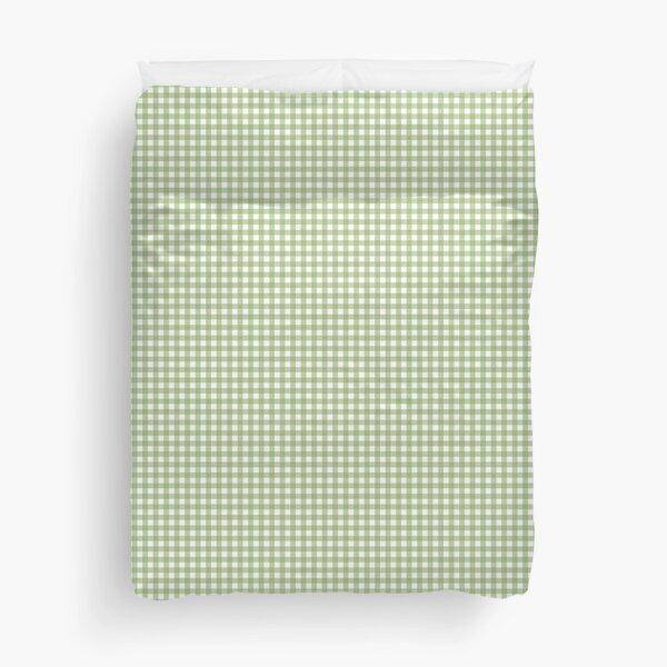 Gingham Green pattern Duvet Cover