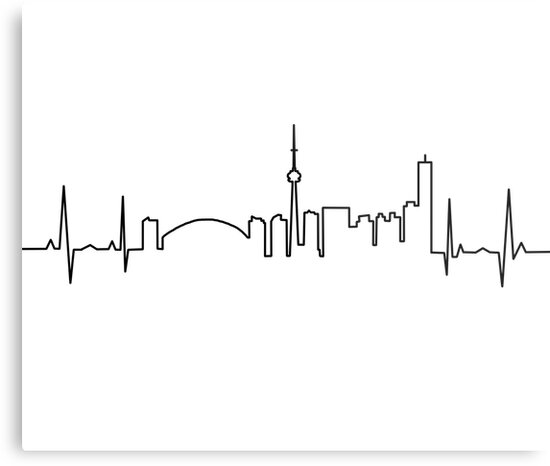 toronto heartbeat metal prints by itsmesarahe redbubble. Black Bedroom Furniture Sets. Home Design Ideas