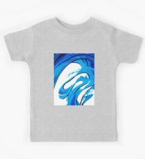 Pure Water 315 - Blue Abstract Art By Sharon Cummings Kids Tee