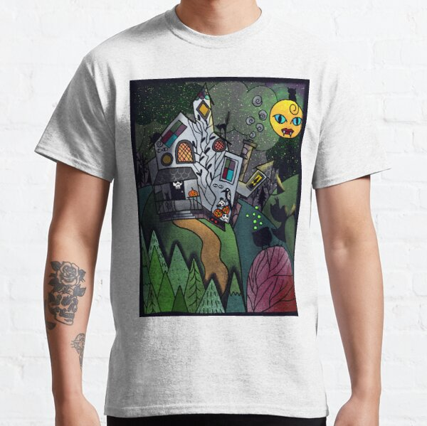 Beautiful Vibey Witch House on a Hill  Classic T-Shirt