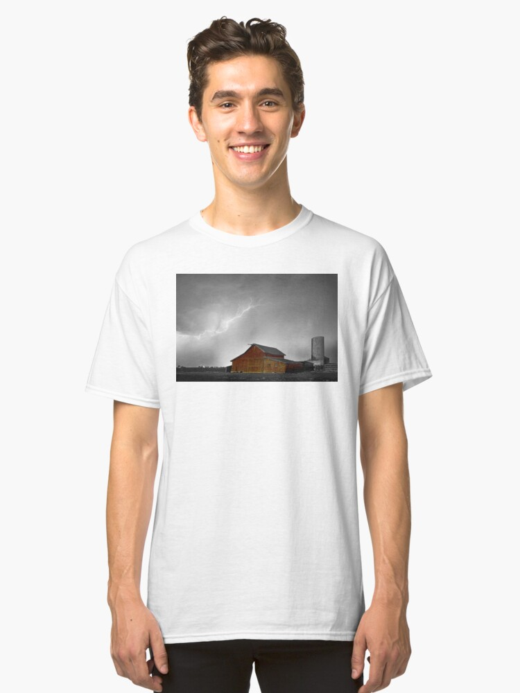 Alternate view of Watching The Storm From The Farm BWSC Classic T-Shirt