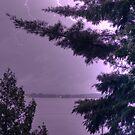 lightning strikes by Brock Hunter