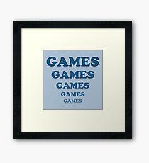 Games Games Games Games Games Framed Print