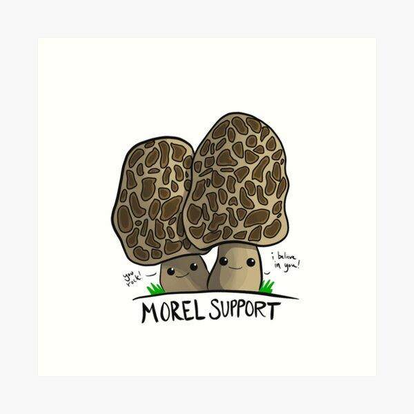 Mushroom Art: Morel Support Art Print