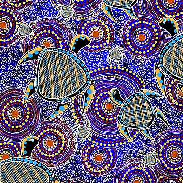 Aboriginal Turtle Art by Jkgaughan