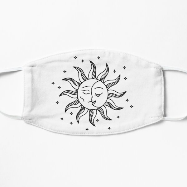 Sun and moon T-shirt Flat Mask
