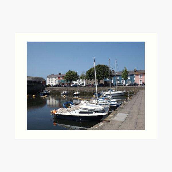 Boats At Aberaeron, West Wales Art Print