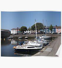 Boats At Aberaeron, West Wales Poster