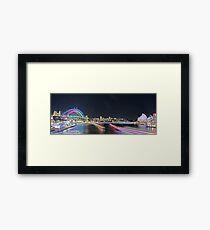 Harbour 1 Vivid 2016 Framed Print