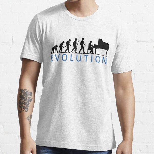 Funny Evolution Of Man and Piano Essential T-Shirt