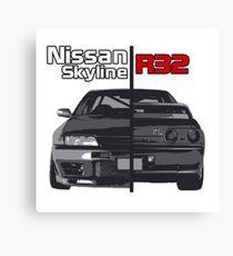 Nissan Skyline R32 JDM Canvas Print