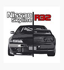 Nissan Skyline R32 JDM Photographic Print