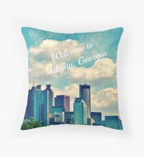 Welcome To Atlanta, Ga throw pillow Throw Pillow