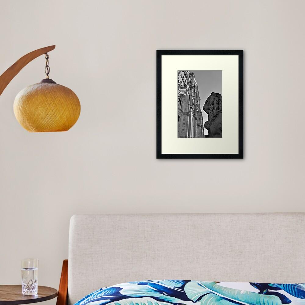 Guarding Santa Croce Framed Art Print