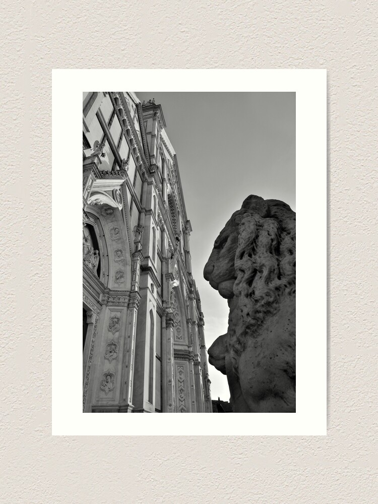 Alternate view of Guarding Santa Croce Art Print