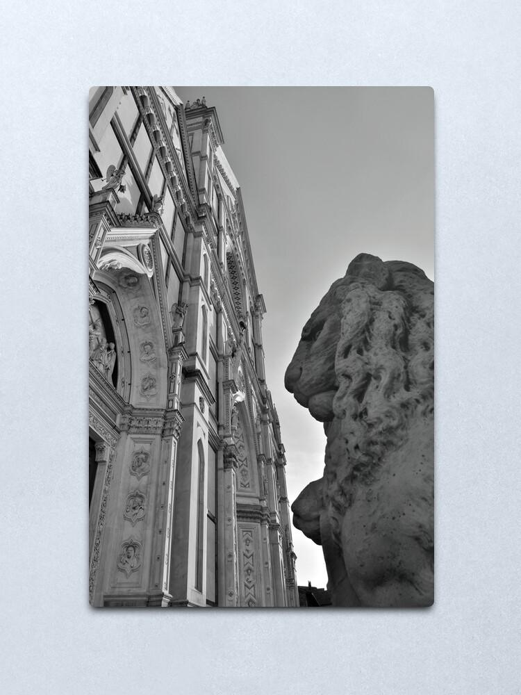 Alternate view of Guarding Santa Croce Metal Print