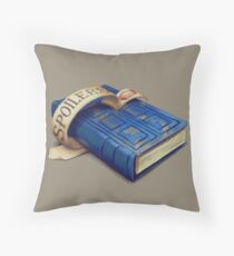 Spoilers, River Song's Tardis Journal Throw Pillow