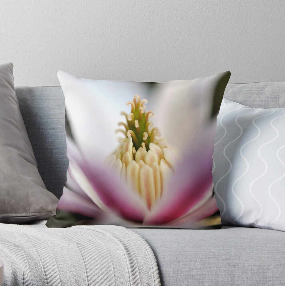 The Star of the Star Magnolia Throw Pillow