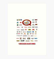 QVHK Vintage Karting Brands Art Print