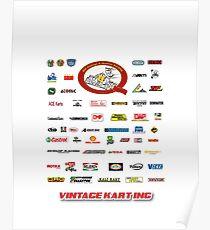 QVHK Vintage Karting Brands Poster
