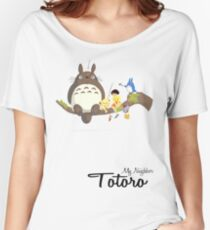 My Neighbor Totoro (With Text) Women's Relaxed Fit T-Shirt