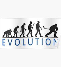 Funny Ice Hockey Evolution Of Man T Shirt Poster