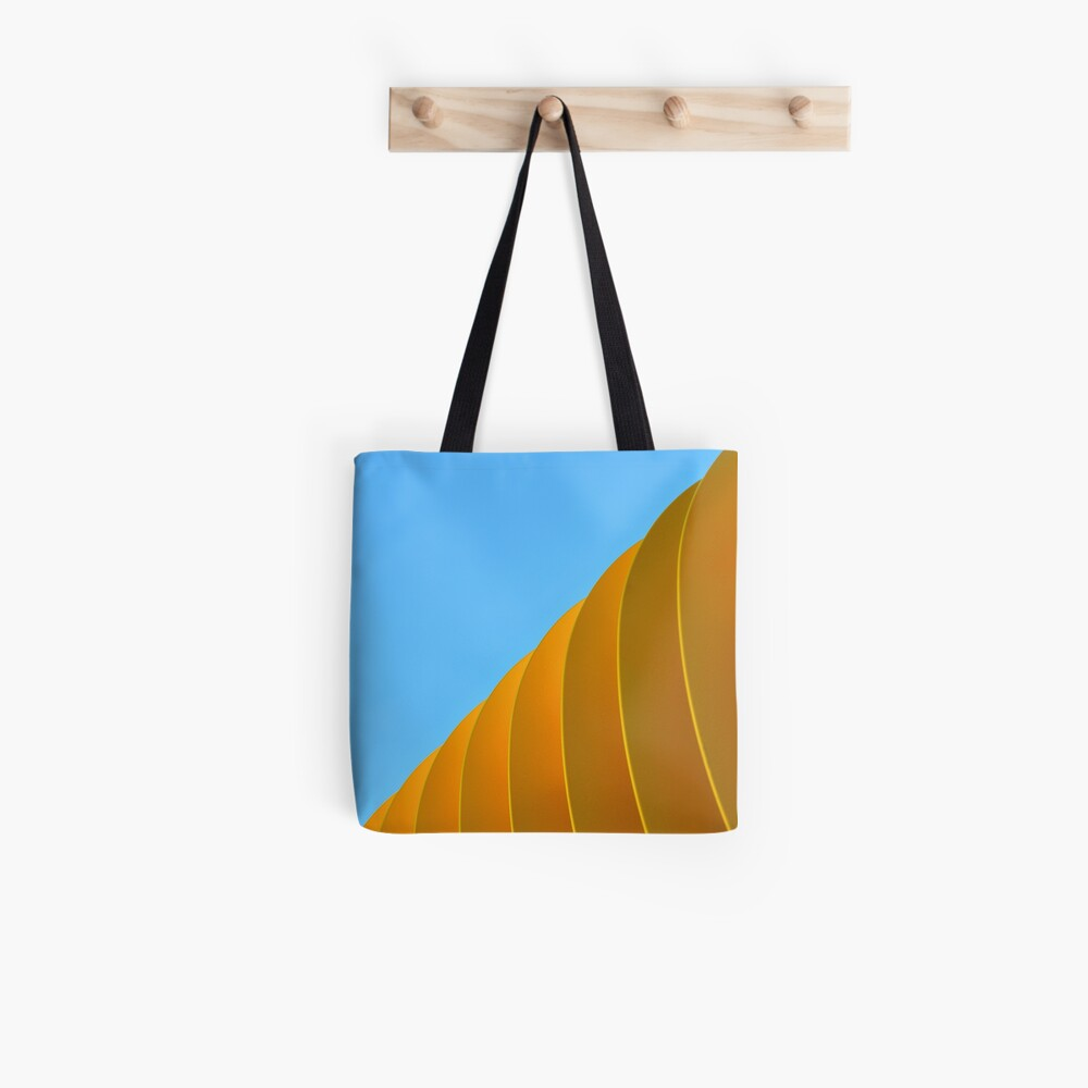 Yellow Waves Tote Bag