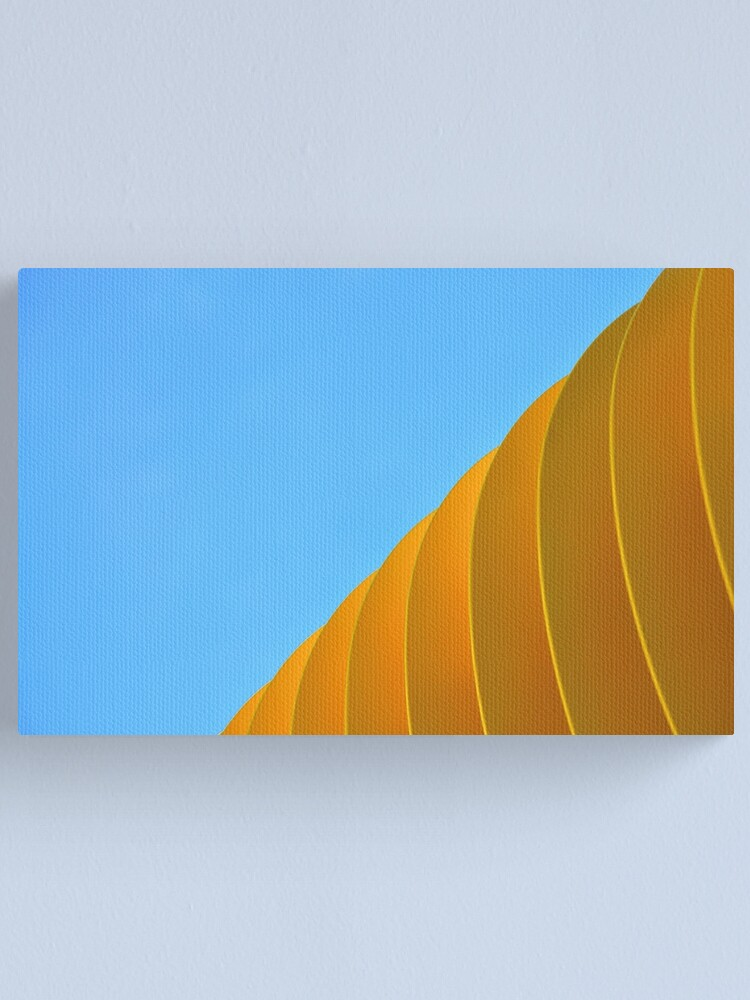 Alternate view of Yellow Waves Canvas Print