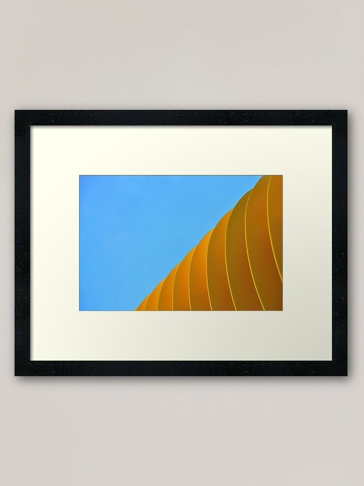Alternate view of Yellow Waves Framed Art Print