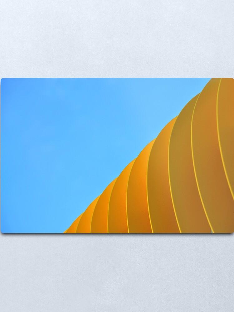 Alternate view of Yellow Waves Metal Print