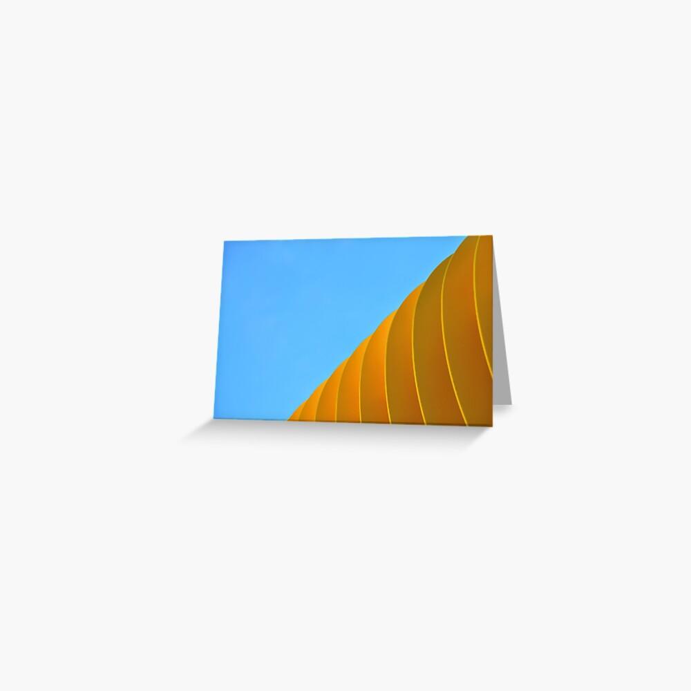Yellow Waves Greeting Card