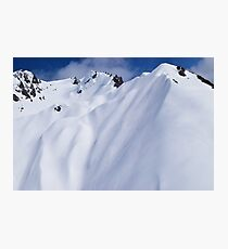 Aerial Photo New Zealand Alps Photographic Print