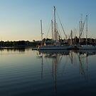 Reflecting on Yachts - Hot Summer Afternoon Mirror by Georgia Mizuleva