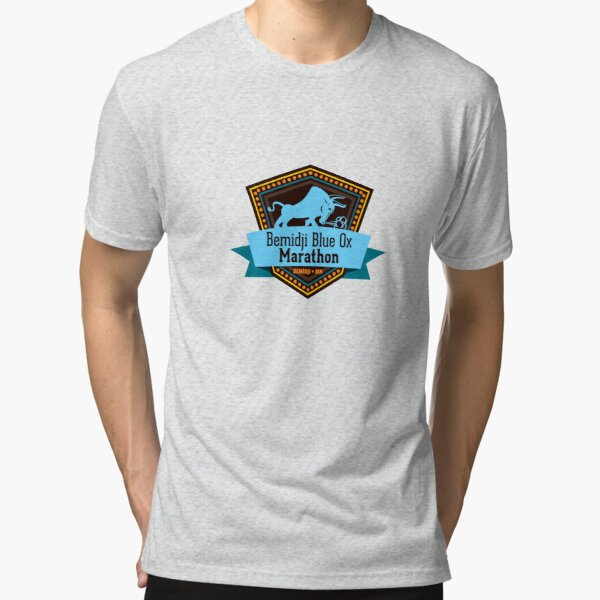 Blue Ox Marathon Shield Logo - color Tri-blend T-Shirt