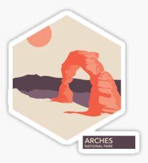 Arches National Park Travel Art Sticker