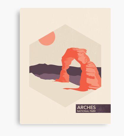 Arches National Park Travel Art Canvas Print